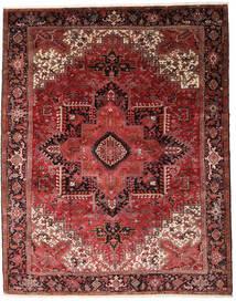 Heriz Teppich  330X415 Echter Orientalischer Handgeknüpfter Dunkelrot/Dunkelbraun Großer (Wolle, Persien/Iran)