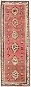 Kelim Fars Teppich 155X460 Echter Orientalischer Handgewebter Läufer Dunkelrot/Dunkelbraun (Wolle, Persien/Iran)