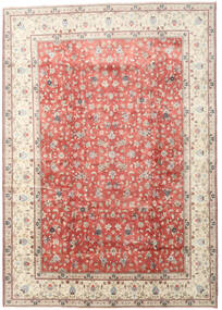 Yazd Teppich  285X405 Echter Orientalischer Handgeknüpfter Beige/Hellrosa Großer (Wolle, Persien/Iran)