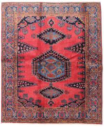 Wiss Teppich 188X225 Echter Orientalischer Handgeknüpfter Braun/Schwartz (Wolle, Persien/Iran)
