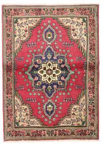 Täbriz Teppich  102X145 Echter Orientalischer Handgeknüpfter Dunkelgrau/Dunkelrot/Rost/Rot (Wolle, Persien/Iran)