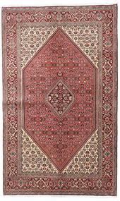 Bidjar Teppich  138X225 Echter Orientalischer Handgeknüpfter Dunkelbraun/Hellrosa (Wolle, Persien/Iran)