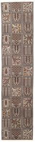 Bachtiar Patina Teppich 70X305 Echter Orientalischer Handgeknüpfter Läufer Hellgrau/Dunkelbraun (Wolle, Persien/Iran)