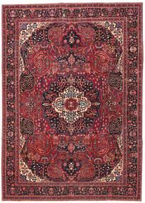 Maschad Patina Teppich  257X362 Echter Orientalischer Handgeknüpfter Dunkelrot/Rot Großer (Wolle, Persien/Iran)