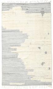 Barchi/Moroccan Berber - Indisch Teppich  156X261 Echter Moderner Handgeknüpfter Weiß/Creme/Dunkel Beige/Hellgrau (Wolle, Indien)