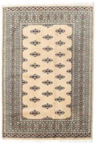 Pakistan Buchara 2Ply Teppich  127X185 Echter Orientalischer Handgeknüpfter Beige/Hellgrau (Wolle, Pakistan)