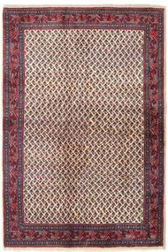 Sarough Mir Teppich 129X194 Echter Orientalischer Handgeknüpfter Dunkellila/Beige (Wolle, Persien/Iran)