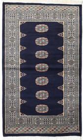 Pakistan Buchara 2Ply Teppich  93X157 Echter Orientalischer Handgeknüpfter Schwartz/Hellgrau (Wolle, Pakistan)