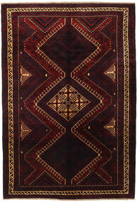 Lori Teppich 188X270 Echter Orientalischer Handgeknüpfter Dunkelrot (Wolle, Persien/Iran)