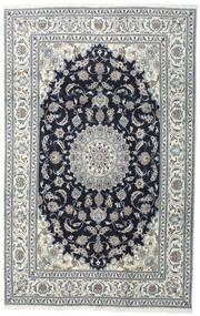 Nain Teppich  200X308 Echter Orientalischer Handgeknüpfter Dunkelgrau/Hellgrau (Wolle, Persien/Iran)
