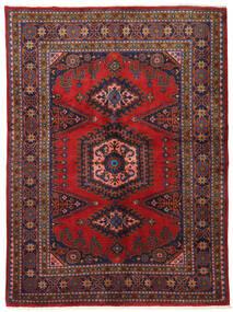Wiss Teppich 162X220 Echter Orientalischer Handgeknüpfter Dunkelrot/Dunkellila (Wolle, Persien/Iran)