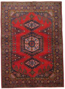 Wiss Teppich 155X215 Echter Orientalischer Handgeknüpfter Dunkelrot/Dunkelbraun (Wolle, Persien/Iran)