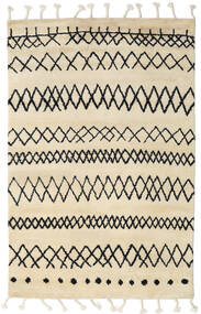 Beni Berber Teppich  180X275 Echter Moderner Handgeknüpfter Beige/Dunkelgrau (Wolle, Indien)