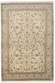 Kaschmir Reine Seide Teppich  166X245 Echter Orientalischer Handgeknüpfter Dunkel Beige/Beige (Seide, Indien)