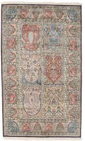 Kaschmir Reine Seide Teppich 98X161 Echter Orientalischer Handgeknüpfter Hellgrau/Dunkelgrau (Seide, Indien)