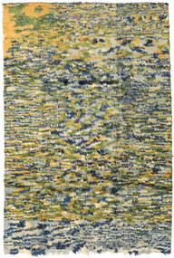 Moroccan Berber - Afganistan Teppich  191X280 Echter Moderner Handgeknüpfter Olivgrün/Dunkel Beige (Wolle, Afghanistan)