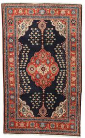 Kazak Teppich  120X194 Echter Orientalischer Handgeknüpfter Dunkelblau/Dunkelrot (Wolle, Afghanistan)
