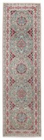 Nain 9La Teppich  82X292 Echter Orientalischer Handgeknüpfter Läufer Hellgrau/Dunkelgrau (Wolle/Seide, Persien/Iran)