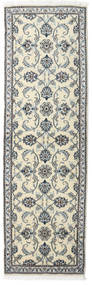 Nain Teppich  80X250 Echter Orientalischer Handgeknüpfter Läufer Dunkelgrau/Beige (Wolle, Persien/Iran)