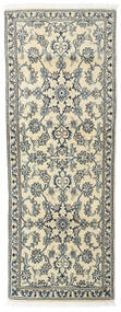 Nain Teppich  75X200 Echter Orientalischer Handgeknüpfter Läufer Hellgrau/Beige (Wolle, Persien/Iran)
