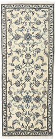 Nain Teppich  80X197 Echter Orientalischer Handgeknüpfter Läufer Beige/Hellgrau (Wolle, Persien/Iran)