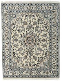 Nain Teppich  160X215 Echter Orientalischer Handgeknüpfter Hellgrau/Dunkelgrau (Wolle, Persien/Iran)