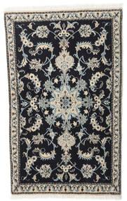 Nain Teppich  86X140 Echter Orientalischer Handgeknüpfter Dunkelgrau/Hellgrau (Wolle, Persien/Iran)