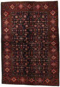 Hosseinabad Teppich  161X236 Echter Orientalischer Handgeknüpfter Dunkelbraun/Dunkelrot (Wolle, Persien/Iran)