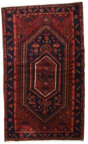 Hamadan Teppich  135X227 Echter Orientalischer Handgeknüpfter Dunkelrot (Wolle, Persien/Iran)