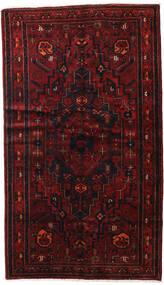 Hamadan Teppich  143X248 Echter Orientalischer Handgeknüpfter Dunkelrot (Wolle, Persien/Iran)