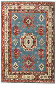 Kazak Teppich 199X302 Echter Orientalischer Handgeknüpfter Dunkelrot/Blau (Wolle, Afghanistan)