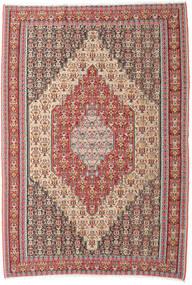 Kelim Senneh Teppich 202X298 Echter Orientalischer Handgewebter Beige/Braun (Wolle, Persien/Iran)
