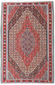 Kelim Senneh Teppich 169X257 Echter Orientalischer Handgewebter Hellgrau/Braun (Wolle, Persien/Iran)