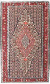 Kelim Senneh Teppich 150X248 Echter Orientalischer Handgewebter Hellgrau/Dunkelbraun (Wolle, Persien/Iran)