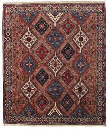Yalameh Teppich 200X237 Echter Orientalischer Handgeknüpfter Dunkelrot/Dunkelgrau (Wolle, Persien/Iran)