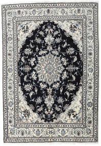 Nain Teppich  164X236 Echter Orientalischer Handgeknüpfter Hellgrau/Schwartz (Wolle, Persien/Iran)