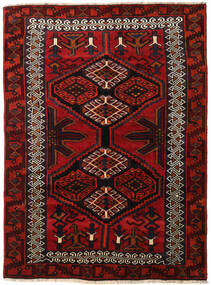 Lori Teppich 165X223 Echter Orientalischer Handgeknüpfter Dunkelrot/Rost/Rot (Wolle, Persien/Iran)
