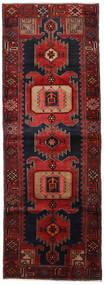 Hamadan Teppich  104X295 Echter Orientalischer Handgeknüpfter Läufer Dunkelrot (Wolle, Persien/Iran)