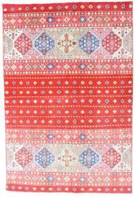 Kazak Teppich  121X180 Echter Orientalischer Handgeknüpfter Hellrosa/Rot (Wolle, Afghanistan)