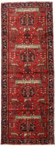 Hamadan Teppich  105X284 Echter Orientalischer Handgeknüpfter Läufer Dunkelrot/Rost/Rot (Wolle, Persien/Iran)