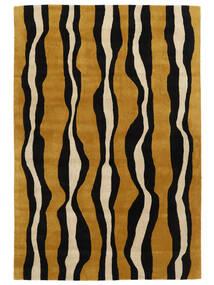 Tigre - Gold/Beige Teppich  160X230 Moderner Schwartz/Braun (Wolle, Indien)