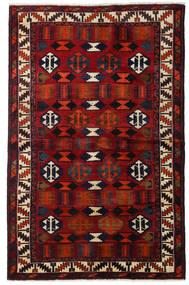 Lori Teppich 145X224 Echter Orientalischer Handgeknüpfter Dunkelbraun/Dunkelrot (Wolle, Persien/Iran)