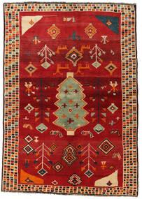 Ghashghai Teppich  145X207 Echter Orientalischer Handgeknüpfter Rost/Rot/Rot (Wolle, Persien/Iran)