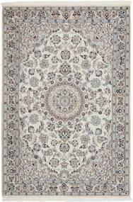 Nain 9La Teppich  114X173 Echter Orientalischer Handgewebter Hellgrau/Dunkelgrau (Wolle/Seide, Persien/Iran)