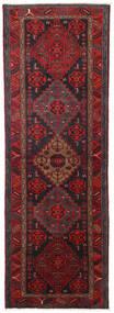 Hamadan Teppich  104X309 Echter Orientalischer Handgeknüpfter Läufer Dunkelrot/Schwartz (Wolle, Persien/Iran)