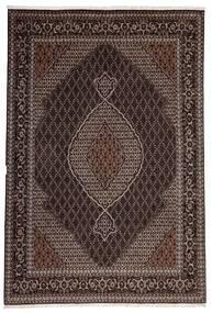 Täbriz 40 Raj Teppich  200X300 Echter Orientalischer Handgewebter Dunkelbraun/Hellbraun (Wolle/Seide, Persien/Iran)