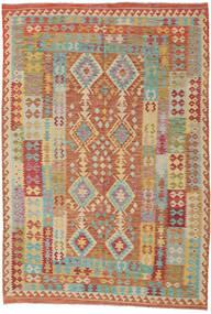 Kelim Afghan Old Style Teppich 208X306 Echter Orientalischer Handgewebter Hellbraun/Dunkel Beige (Wolle, Afghanistan)