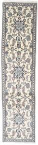 Nain Teppich  72X304 Echter Orientalischer Handgeknüpfter Läufer Beige/Hellgrau (Wolle, Persien/Iran)