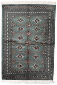 Pakistan Buchara 2Ply Teppich  140X204 Echter Orientalischer Handgeknüpfter Dunkelgrau/Dunkelgrün (Wolle, Pakistan)