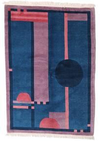 Himalaya Teppich  140X197 Echter Moderner Handgeknüpfter Dunkelblau/Rosa (Wolle, Indien)
